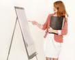 Auszubildende bei einer Präsentation