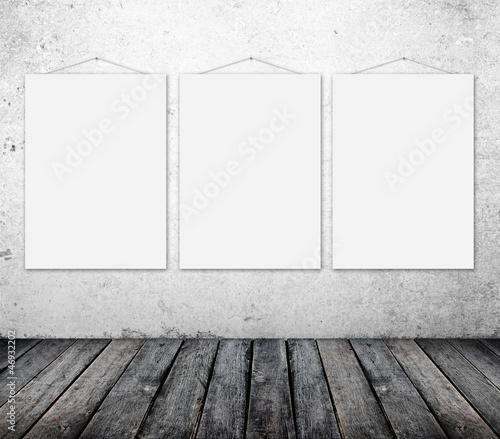 three empty poster