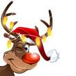 weihnachten muetze rudolf lichterkette gelb