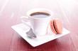 coffee and macaroon
