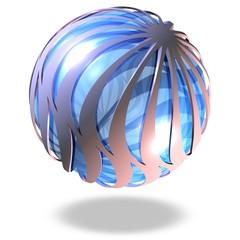 Blaue futuristische Kugel