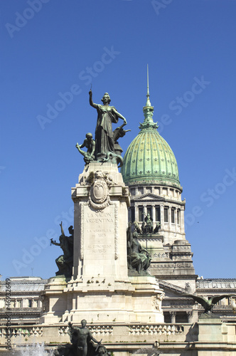 The National Congress in Buenos Aires, Argentina