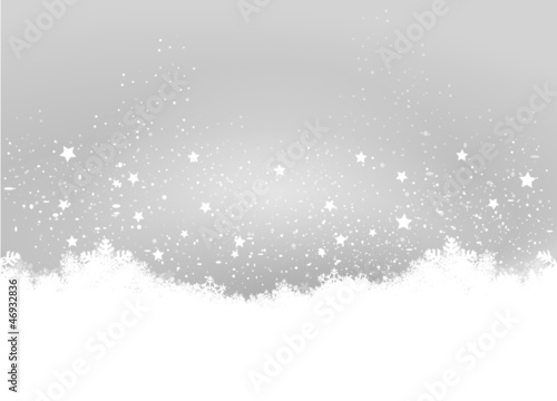 Grey Christmas Background