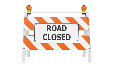 Road Closed Barricade Construction