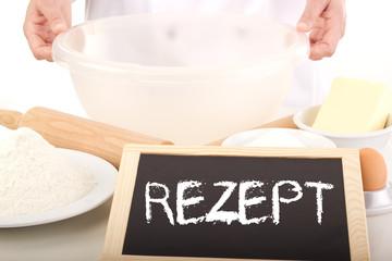 Blackboard showing: recipe