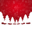 tree snowflake snow stars red white background