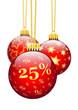Rabatt, 25 %, Fünfundzwanzig Prozent, Weihnachten, Werbung, Deko