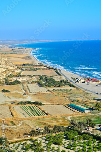 High viewpoint of the Cyprus coastline