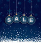 blue winter sale tags