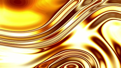 Glowing Liquid Gold