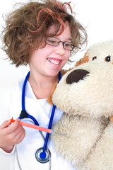 Mädchen als Kinderarzt