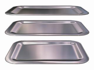 square, silver plate