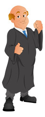 Lawyer - Vector Character Illustration