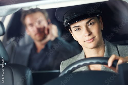Portrait of female chauffeur