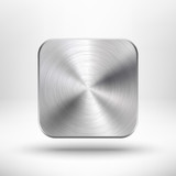 Abstract technology app icon with metal texture for interfaces