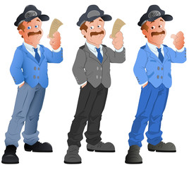 Police - Vector Character Illustration