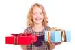 kind mit geschenken
