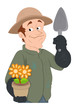 Florist - Vector Character Illustration