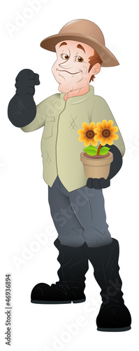 Gardener - Vector Character Illustration