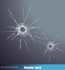 eps Vector image:gunshot mark