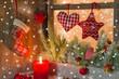 Weihnachten - klassisch in Rot mit Schnee