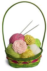 Panier à tricot