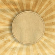 Retro Brown Vintage Square Sunburst