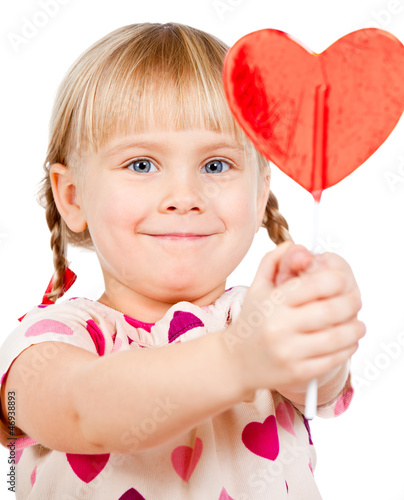 Child with lollypop