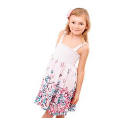 Kleine Dame im Sommerkleid