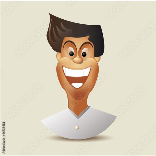 Cartoon charactor - happy man