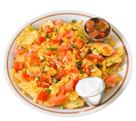 Plate of Nachos with Cheese