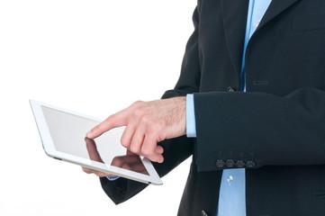 Uomo d'affari con tablet computer