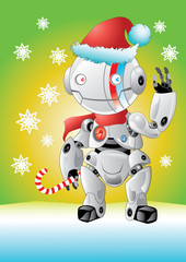 White robot santa