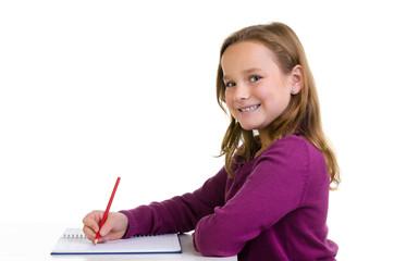 motivierte schülerin schreibt