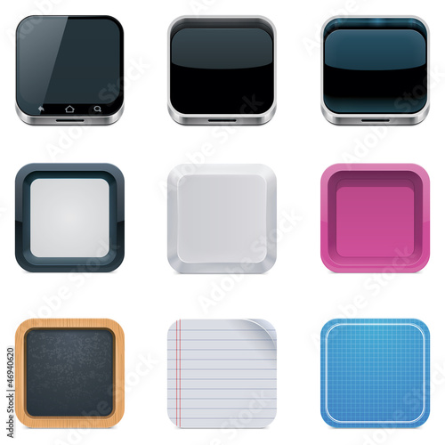 Vector backgrounds for square icons