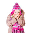 Mädchen in Winterkleidung