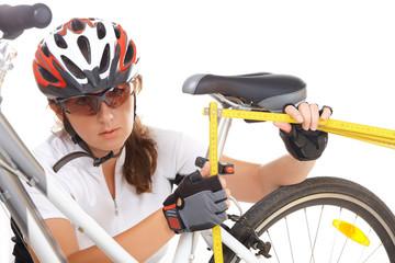 Measuring bike saddle