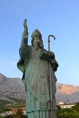 Saint Nicholas Statue in Baska Voda