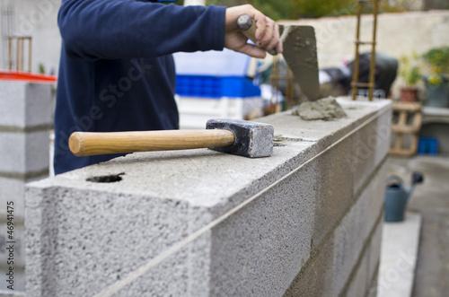 Construction mur - 46941475