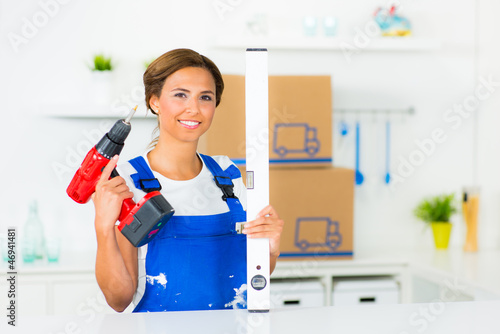 emanzipierte heimwerkerin