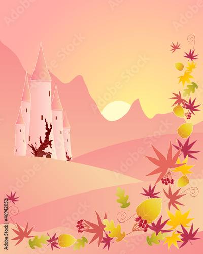 Papiers peints Chateau autumn castle