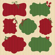 Christmas Cardboard Labels