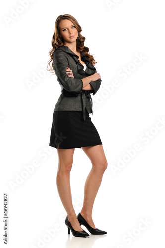 Young Businesswoman standing with her arms crossed