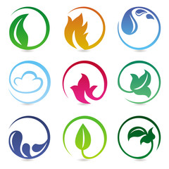 Vector design elements with nature signs