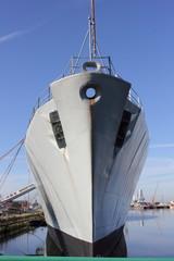 Old naval frigate