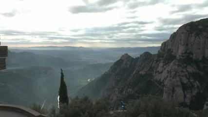 blick vom kloster montserrat in richtung barcelona