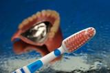Zahnersatz Reinigen mit Zahnbürste