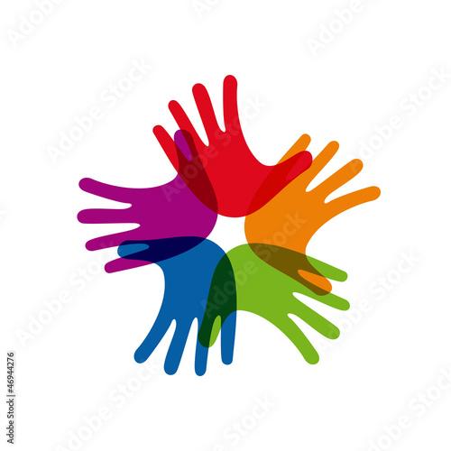 Teamwork rainbow # Vector