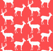 Christmas deers seamless pattern