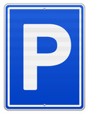 Isolated Parking Sign